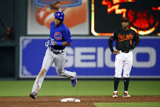 Russell's 9th-inning homer lifts Cubs past Orioles 9-8