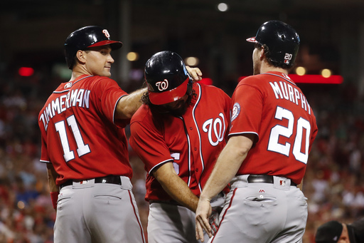 Rendon hits grand slam, Nationals hold off Reds for 10-7 win