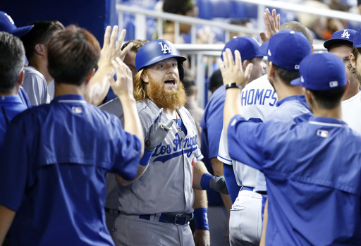 Turner homers, Dodgers win 9th straight by beating Miami 3-2