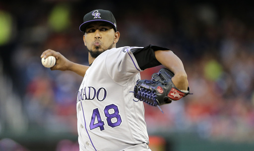 Marquez pitches Rockies past Nationals 4-2