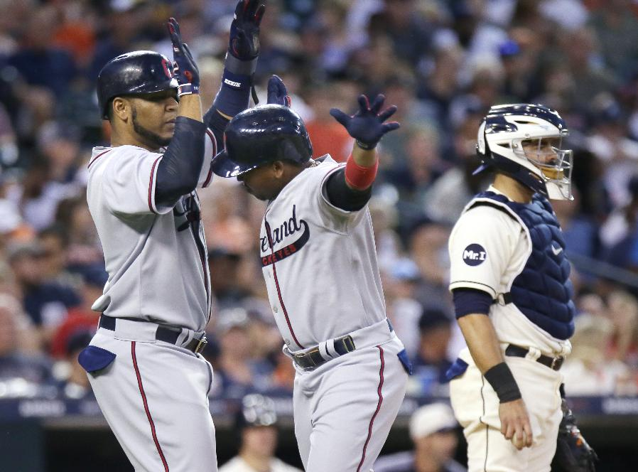 Indians rally in nightcap to split doubleheader with Tigers