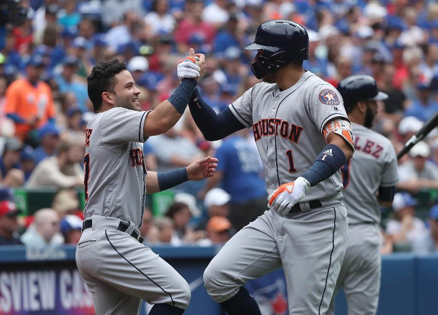 Astros beat Jays 19-1 for 60th win at All-Star break
