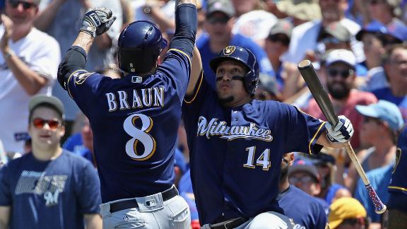 Braun, 7-run 3rd inning spark Brewers to 11-2 rout of Cubs
