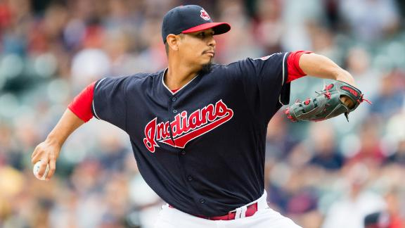 Carrasco strikes out 11, Indians overpower Tigers 11-2
