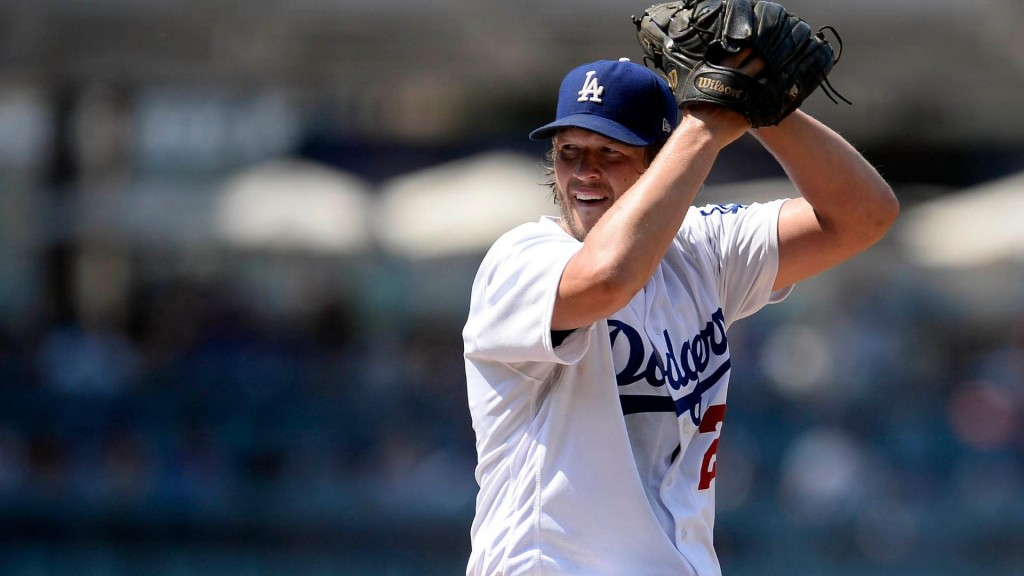 Kershaw gets 14th win, Dodgers' record at 61-29