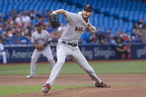 Sale and 2 relievers toss 4-hitter, Red Sox beat Jays 3-0