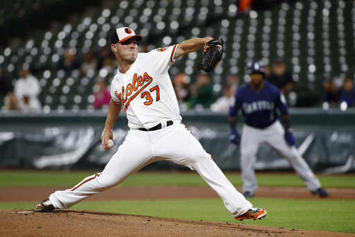Bundy throws 1-hitter, streaking Orioles beat Seattle 4-0