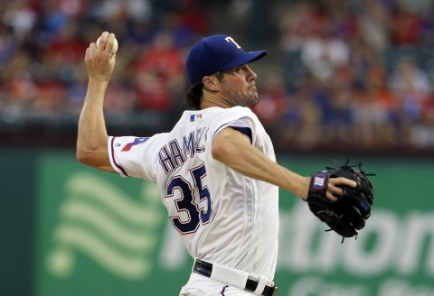 Rangers beat Astros 6-4 after Hamels' 7 scoreless innings