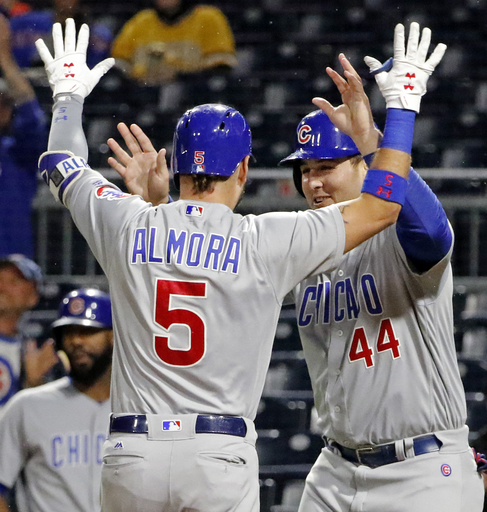 Almora, Happ lead Cubs to 8-2 rout of Pirates