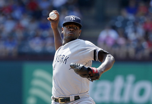 Aroldis Chapman earns first save since losing closer role to finish Yankees' one-hitter