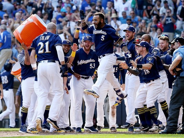 Shaw's 2-run homer in 10th stuns Cubs, gives Brewers 4-3 win