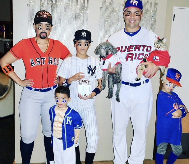 Carlos Beltran's family wore all his uniforms on Halloween